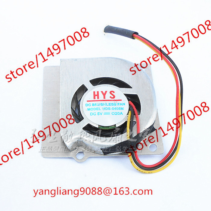 Free Shipping For HYS HDS-0405M DC 5V 0.20A 3-wire 3-pin connector 70mm 40x40x7mm  Server Laptop Cooling fan