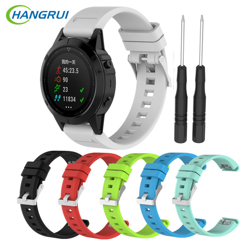 HANGRUI Silicone Strap Smart Watch Band Replacement For Garmin fenix 5 forerunner 935 quatix 5 Approach S60 relogio inteligente