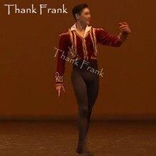 Chaqueta de Ballet personalizada para hombre, trajes de baile de Príncipe, abrigo de Ballet profesional para niño, Túnica de Ballet, disfraz C574