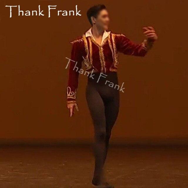Nouveau veste de Ballet homme sur mesure hauts Costumes de danse Prince homme manteau de Ballet professionnel pour les garçons Ballet tunique Costume C574