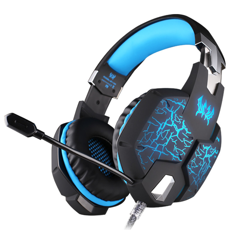 ФОТО EACH G1100 Vibration Function Professional Gaming Headphone Games Headset with Mic Stereo Bass Breathing LED Light for PC Gamer
