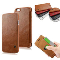 4 7 Inch Retro Luxury Brand Logo Book Wallet Case For IPhone 6 Leather Flip Card