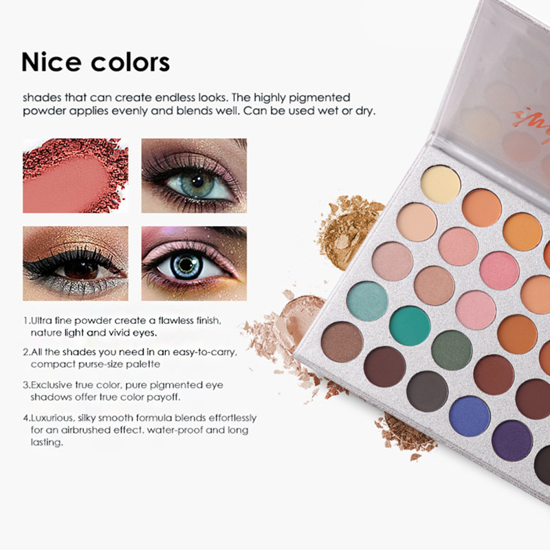 Practical Beauty Glazed 35 Colors Eye Shadow Palette Easy To Wear Nude Makeup Palette Set Maquiagem Earth Pigments Eyeshadow Tslm2 Beauty & Health