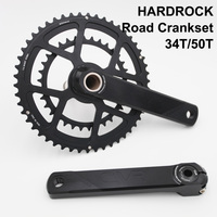 ZRACE HARDROCK 10 / 11 Speed Road Bicycle Chainset Chain Wheel , 170mm / 175mm 34T / 50T Bike Crankset , CNC Bike Crank