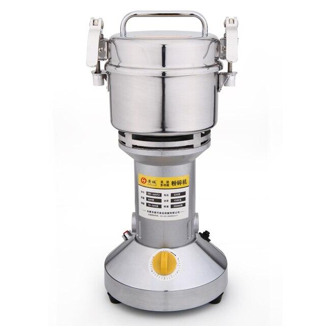 Broyeur Portable balançoire 220V | 300g, petite moulin à farine alimentaire, poudre à Grain, Machine à café, pulvérisateur de soja, broyeur à café