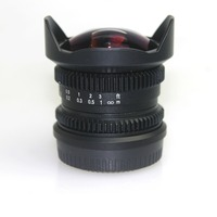 8mm f/2.8 MFT mount 4/3 Fisheye CCTV camera Lens for Micro 4/3 M4/3 E PL7 M1 GH4 OM D free shipping