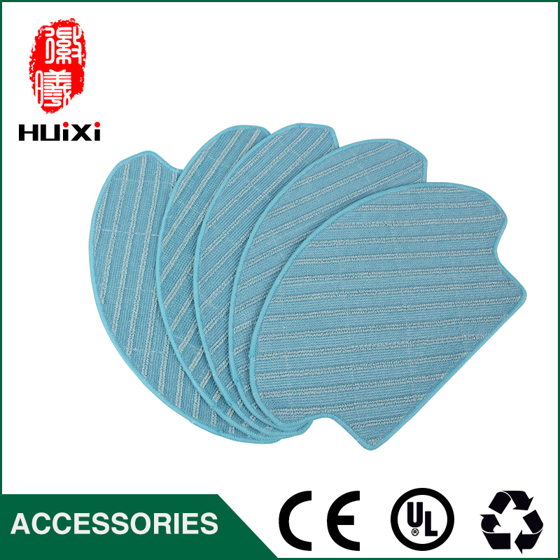 Blue and White Mopping Cloth Microfiber Dishcloth for DT85 DT83 DM81 Robot Vacuum Cleaner Parts for Home Clean 5set vacuum cleaner parts replacement 5 hepa filter 5 cotton for ecovacs dibea dt85 dt83 dm81 vacuum cleaner parts