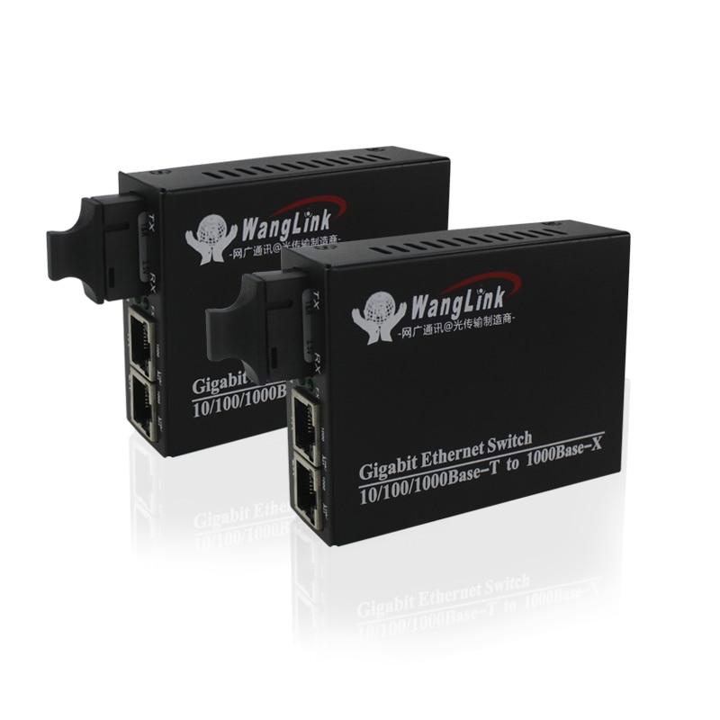 Gigabit 1 fiber Port 2RJ45 10/100/1000 ethernet port fiber optic transceiver fiber media converter 1pair-in Fiber Optic Equipments from Cellphones & Telecommunications    1