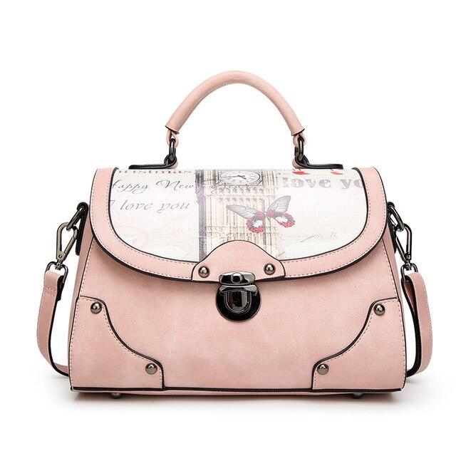 0bf29cd52a6 New design printed leather bag vintage handbag womens small tote bags hot  female crossbody bags for women handbag with prints