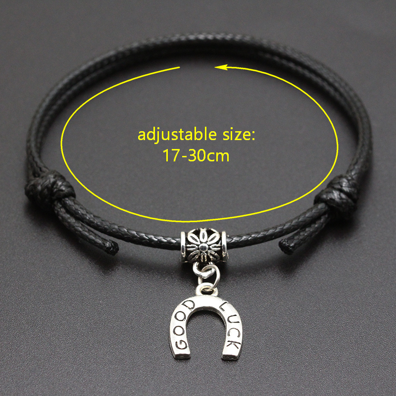 New A-Z Letters Brother Heart Pendant Red Thread String Bracelet Handmade Diy Lucky Rope Bracelet For Women Men Jewelry Gift