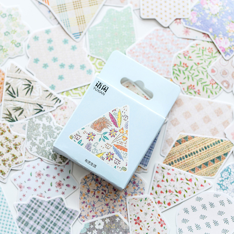 Cloth Art Life Decorative Washi Stickers Scrapbooking Stick Label Diary Stationery Album Stickers