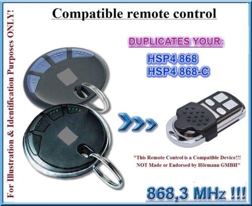 Hormann  HSM2 HSM4 HSP4, HSP4-C  HSZ1 HSZ2  Blue Button Remote Control 868,3MHz, Clone Remote Control Duplicator
