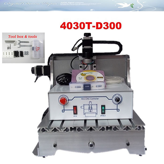 Best price! 110/220V cnc router for wood working 3040 T-D300 , CNC engraving machine, mini cnc milling machine