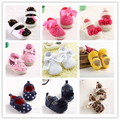 Many Design New Style First Walker Brand Baby Toddler Soft Cotton Sole Spring/Autumn Bowknot Polka Dot Multicolor Casual Shoes