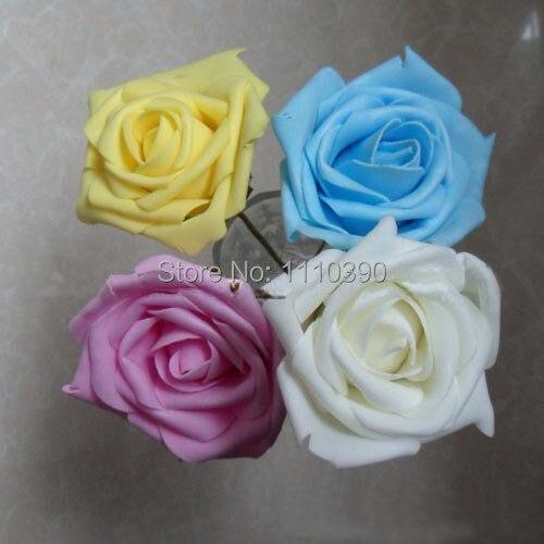 Acheter 7 CM fleurs artificielles bouquets, floral mousse roses, real touch roses pour la fleur de diy bouquets de mariée, mariage accessoires décoration de accessories cell fiable fournisseurs