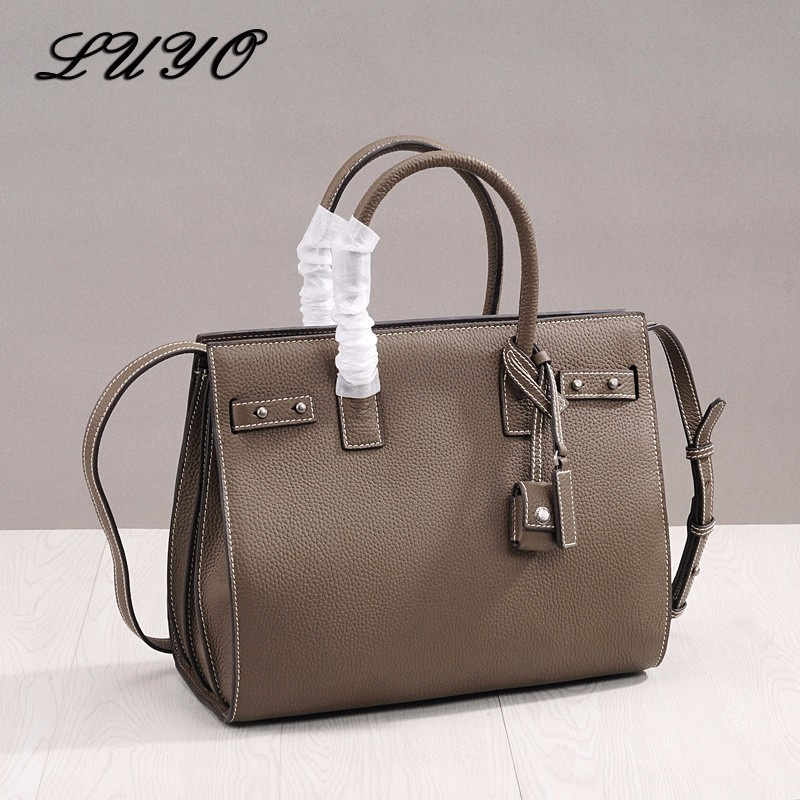 High Quality Genuine Leather Laptop Bag Female Luxury Handbags Women Top-handle Bags Designer Famous Brands Shoulder For Boss free shipping 1 pair 60cm high quality rope bags handles split leather bag handles for diy bag parts genuine leather bag handle