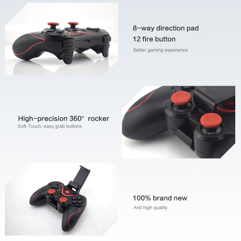 Wireless Bluetooth Gamepad Support Official App Game Controller For iPhone Android Smart Phone For PS3 PC TV Box 14