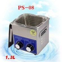 1 PC PS-08 60 W Mały Grzejnik & timer 1.3L 40 KHZ Ultradźwiękowa dla Gospodarstw Domowych Okulary Biżuteria Z Koszem