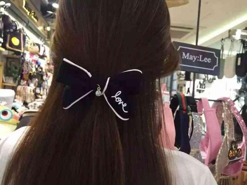Korea łuk list miłość słodkie elastyczne gumki do włosów gumka do włosów akcesoria dla dziewczynek wstążka gumki do włosów guma do włosów