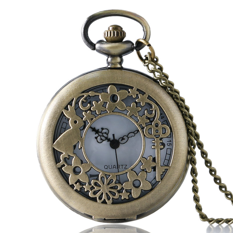 Rabbit Garden Pocket Watch