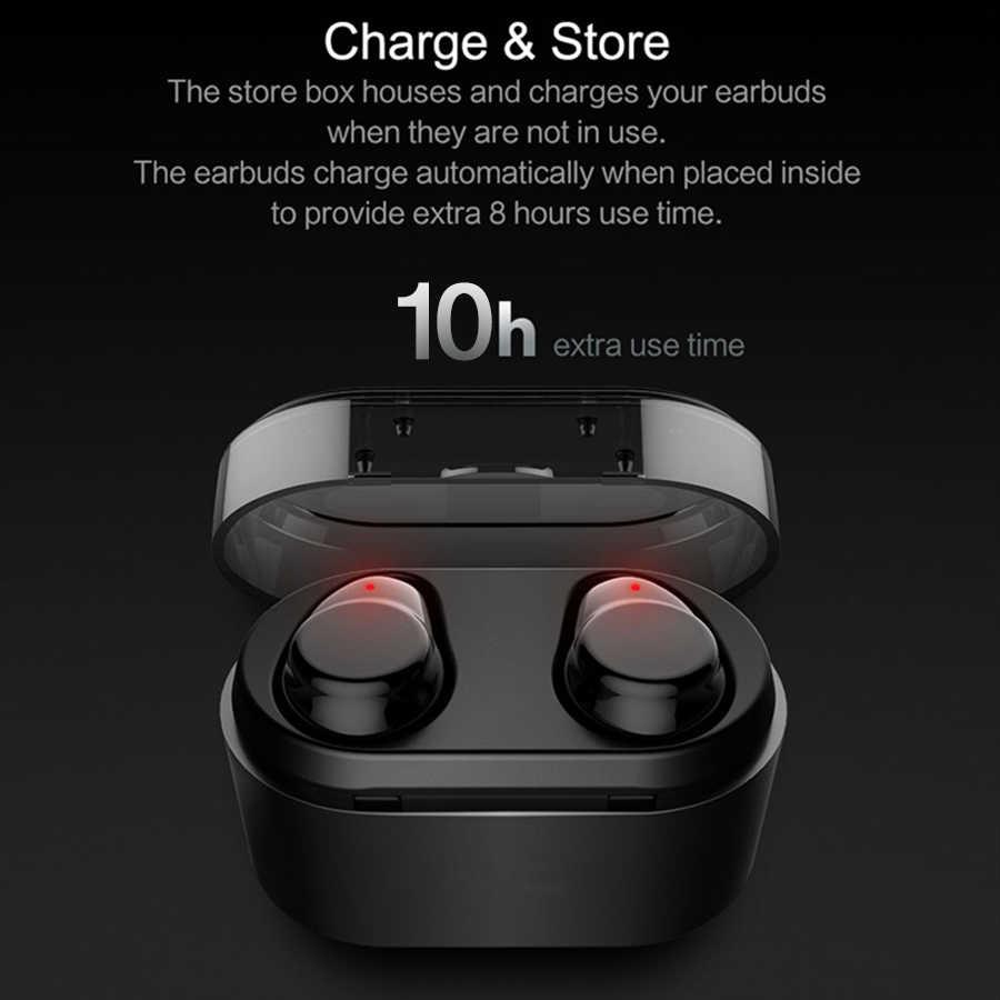 Langsdom prawdziwe bezprzewodowe wkładki douszne słuchawki Bluetooth Mini dotykowy zestaw słuchawkowy hi-fi z mikrofon do telefonu iPhone Xiaomi Samsung