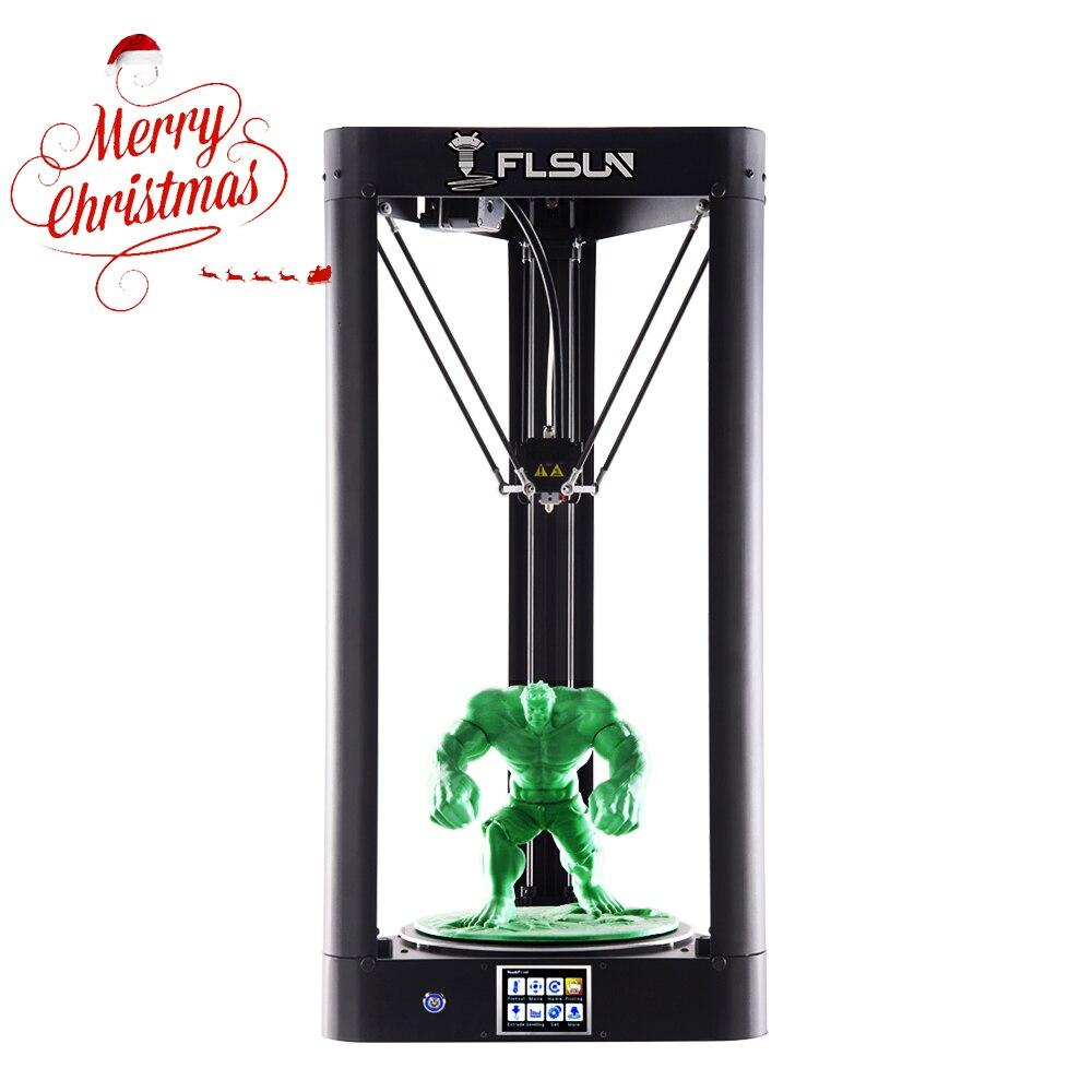 2019 3D Imprimante Flsun QQ-S AutoLevel Pré-assemblée Delta 3D Imprimante HeatBed Écran Tactile Wifi 24 V Alimentation 32 bits carte mère