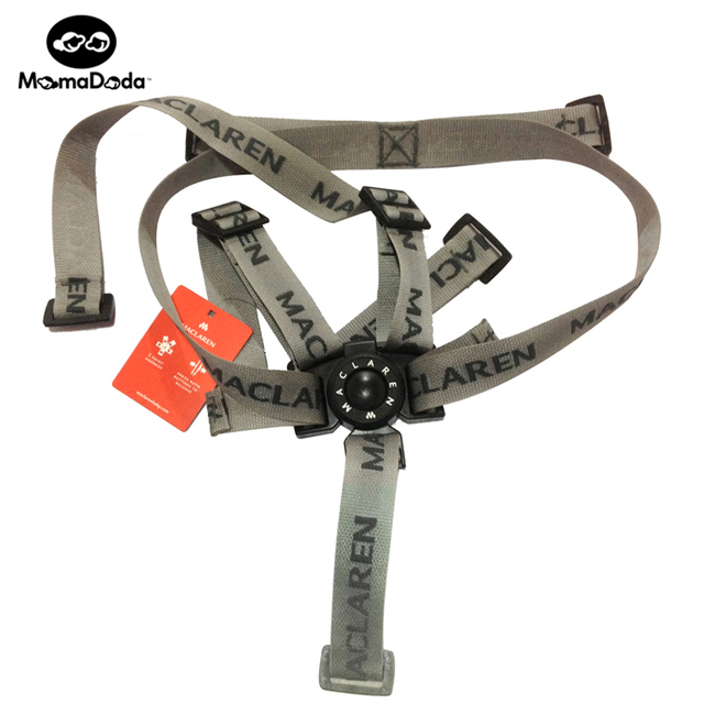 Genuino Cinturón de Seguridad Cochecito Maclaren Cochecito Accesorios Carrito de Grupo de Cinco Puntos del Cinturón de Seguridad Puede Extraíble Y Ajustable
