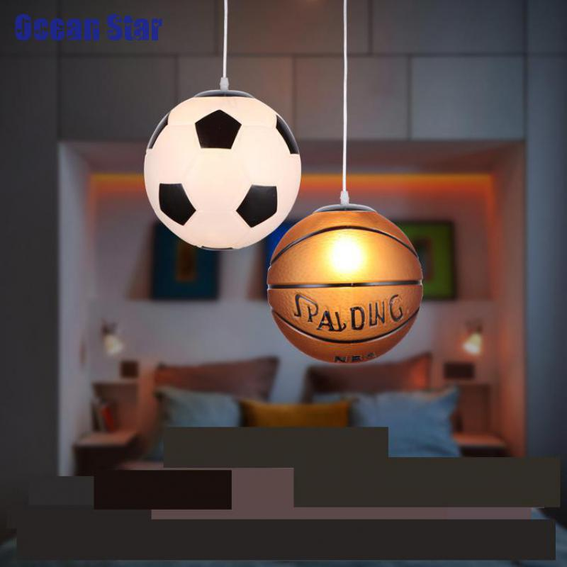 Aliexpress Modern Minimalist Football Chandeliers Creative Children Bedroom Lamp Chandelier Light Fixtures Basketball Lighting From