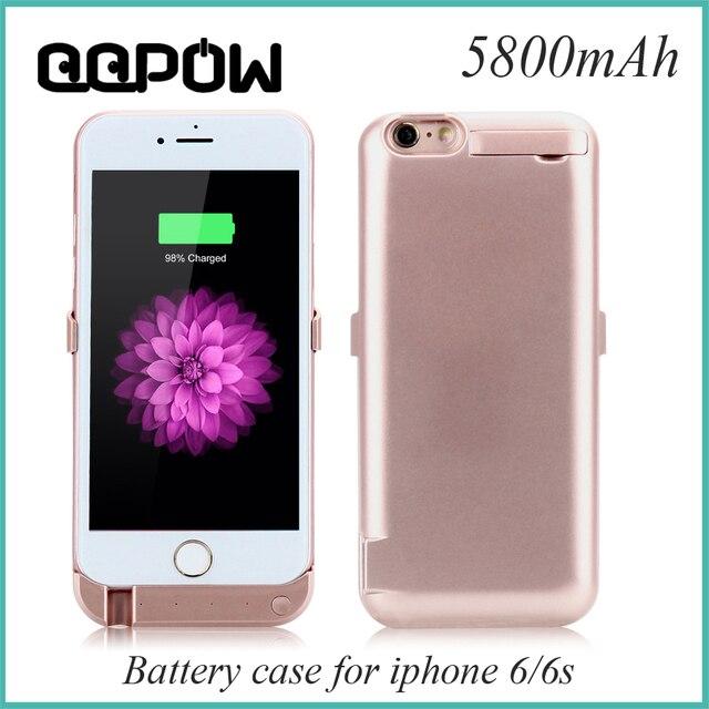 2016 Новый 5800 мАч Для iPhone 6 6 s Внешний Портативный Резервный Аккумулятор Зарядка Банк питания Зарядного устройства телефона Чехол