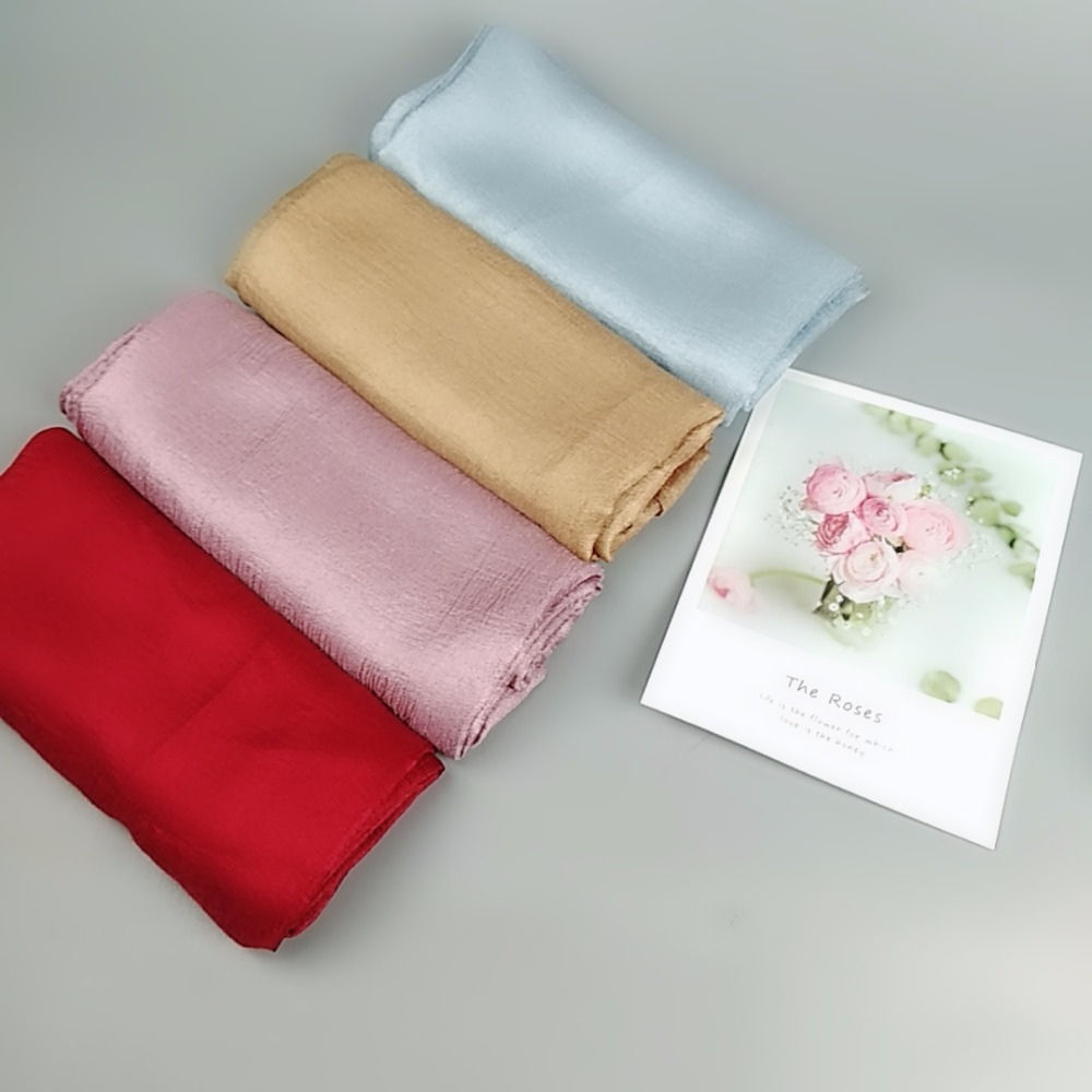 M3 High quality fashion women hijab shimmer shawls lady   scarf     scarves     wrap   silk long   scarf   10pcs 1lot an choose colors