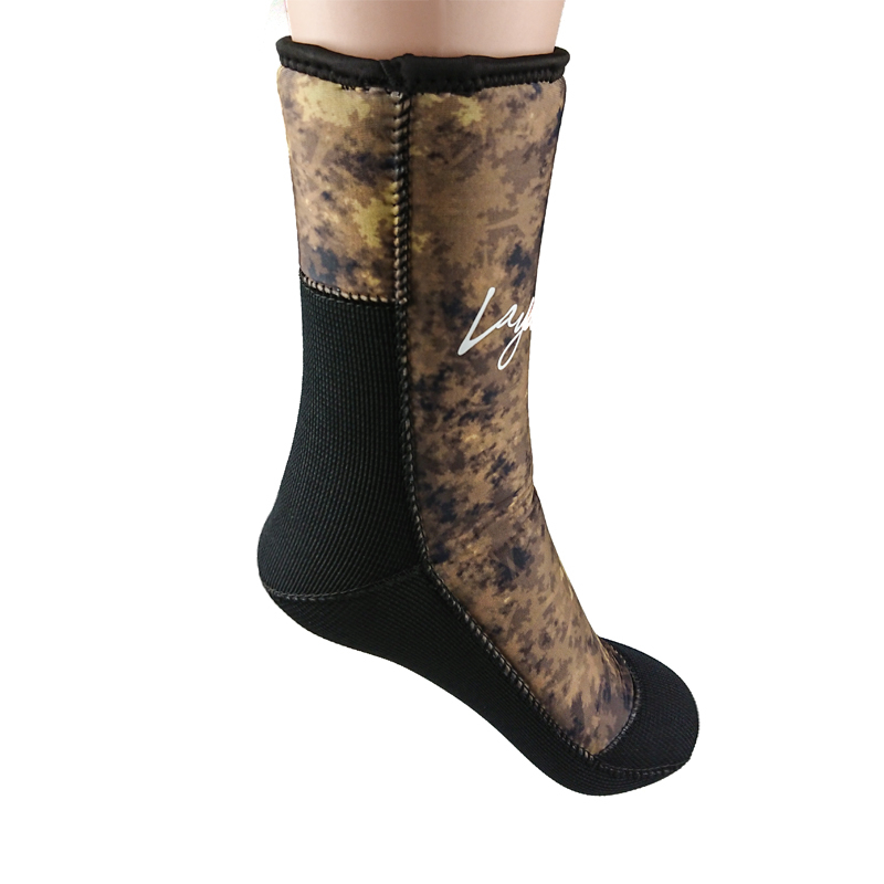 7mm Neoprene Diving Socks Men Women Camouflage Wetsuit Boots Shoes For Water Sports Spearfishing Scuba Diving