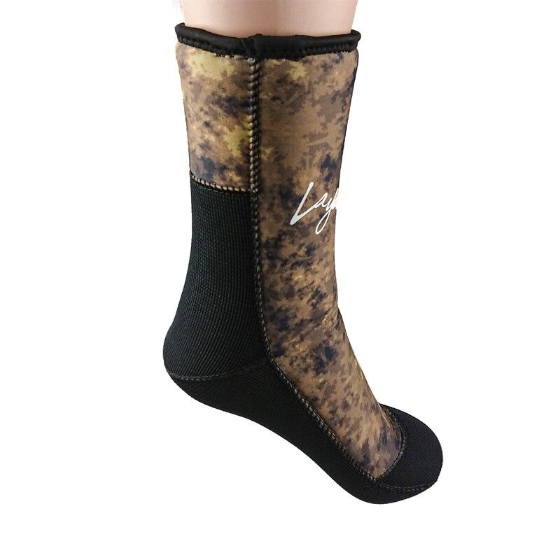 7mm neopreno calcetines de buceo hombres mujeres camuflaje traje zapatos para deportes acuáticos pesca submarina buceo calcetines F1601AC7