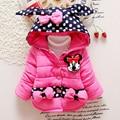2015 children outerwear baby girls cotton Hooded coats Winter Jacket Kids children's winter clothing Girls Down & Parkas BC020