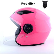 2019 NEW Motorcycle Helmet Four Seasons Electric Bicycle pink  Racing Half Helmets Motorbike Helmet Medio Casco Helmets