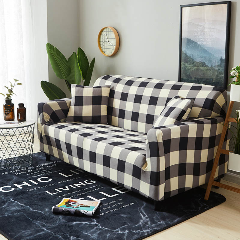 Image 4 - Elastic Slipcovers Sofa Universal Sofa Cover Cotton Stretch Sectional Couch Corner Cover Sofa Cover for living room pets 1PC-in Sofa Cover from Home & Garden