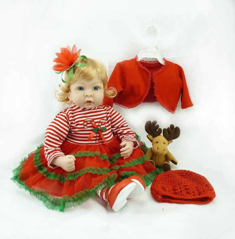 Blond hair princess girl dolls reborn 22