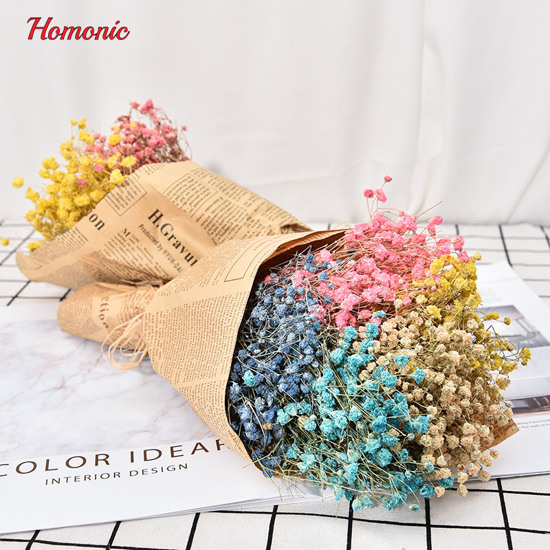 1Bouquet mini dried pressed flower Artificial dried natural flowers gypsophila Baby 39 s Breath flores Home Wedding Decoration in Artificial amp Dried Flowers from Home amp Garden