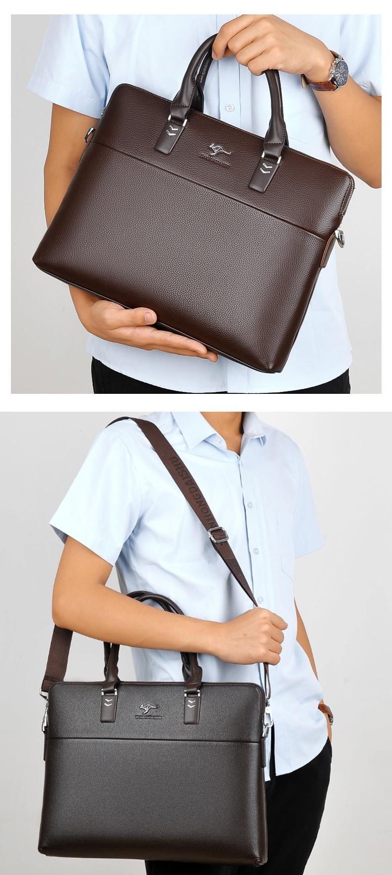 HTB1HuG XfNNTKJjSspeq6ySwpXad TIANHONGDAISHU Men Casual Briefcase Business Shoulder Leather Messenger Bags Computer Laptop Handbag Men's Travel Bags handbags