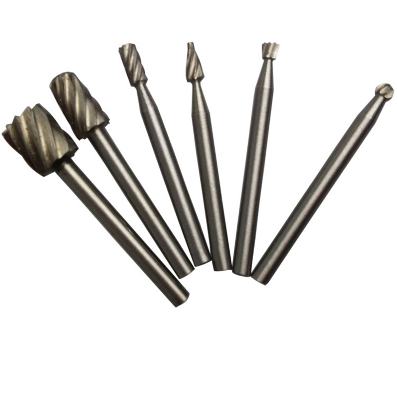 Tools New 6pcs Hss Routing Router Grinding Bits Burr For Rotary Tool Dremel Mini O08 Dropship
