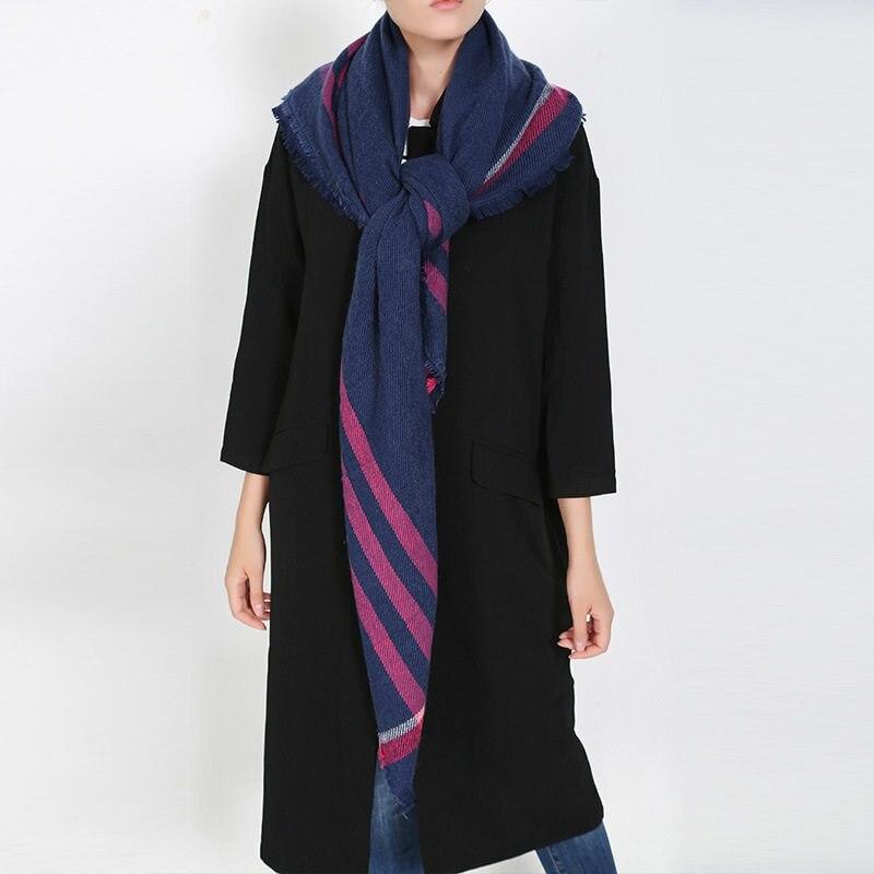 Winter Women Scarf font b Tartan b font Foulard Femme Striped Echarpes Luxury Brand Blanket Scarf