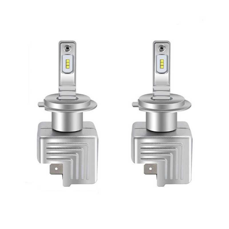 2 قطعة LED العلوي H7 H4 H1 H11 H8 H9 HB3 9005 HB4 9006 9012 HIR2 لمبة ZES رقائق 80 واط 12000lm 6000 كيلو 12 فولت السيارات الصغيرة ضوء