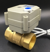 DC5V 12V 24V Metal Gear Motorized Valves Brass 1'' TF25 B2 Series 2/3/5/7 Wires 2 Way DN25 Electric Shut Off Valves