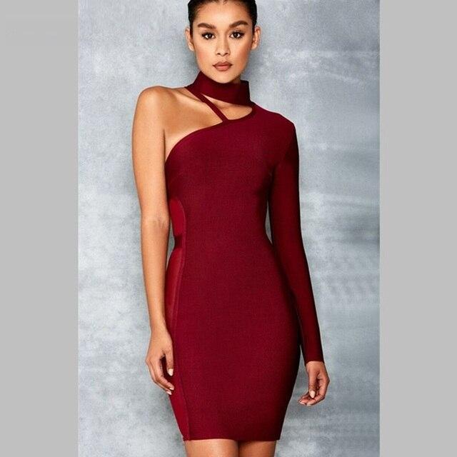 Mesh One Shoulder Dress