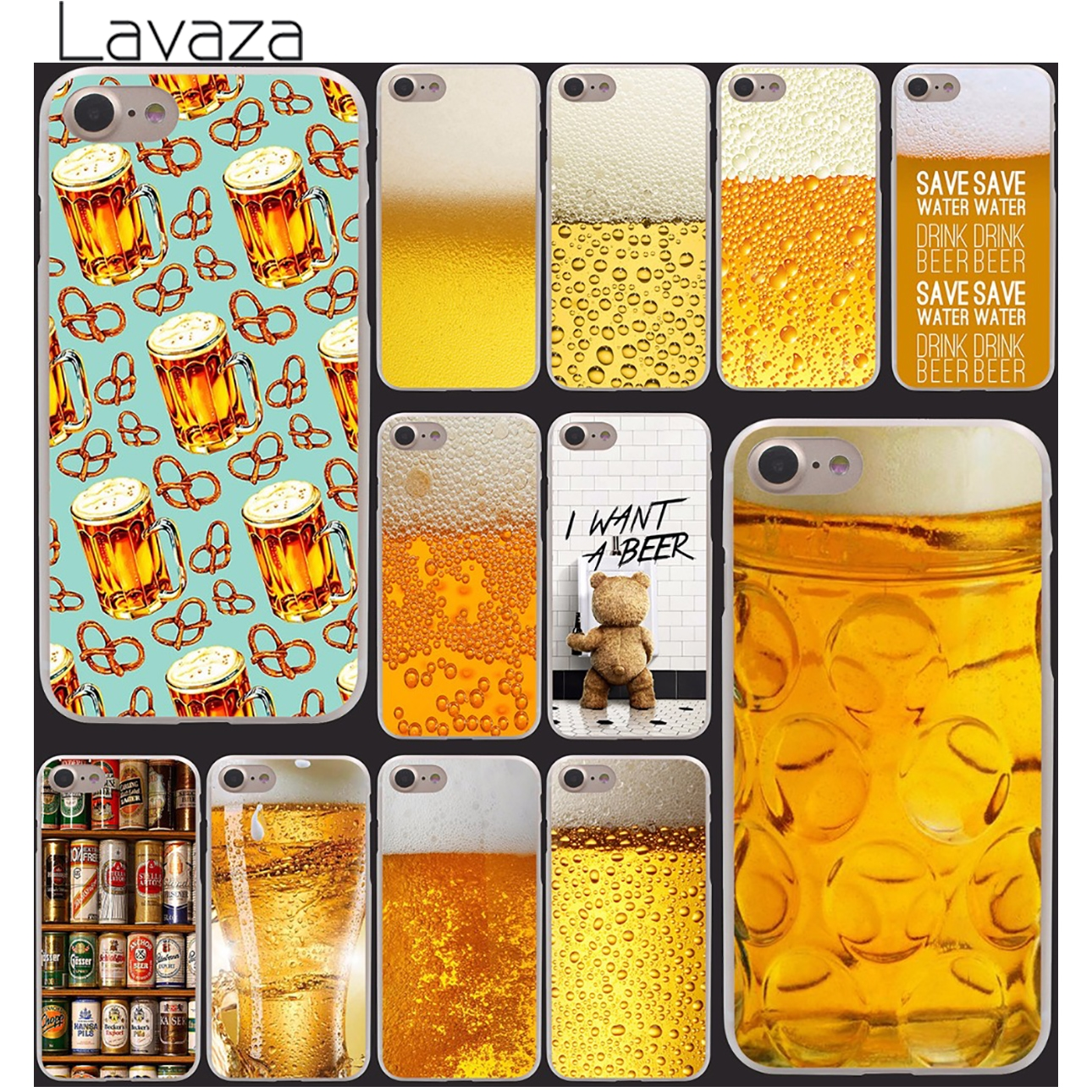 A Glass of Beer Cool Summer Skin Hard Clear Skin Transparent For iPhone 6 6s 6 plus 6+ Case Cover