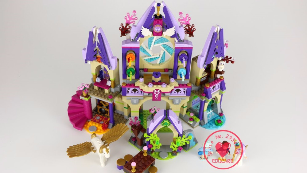 Bela 10415 Elves Skyra's Mysterious Sky Castle model Building block kits Bricks girls Toys compatiable with lego kid gift set 10551 elves ragana s magic shadow castle building blocks bricks toys for children toys compatible with lego gift kid set girls