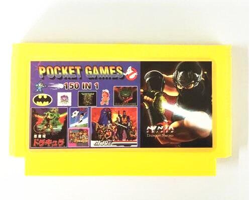 150 в 1 без Повторите 8 бит FC60Pins игры Картридж, Рокман 1 2 3 4 5 6 ninjaturtles, Kirby Приключения