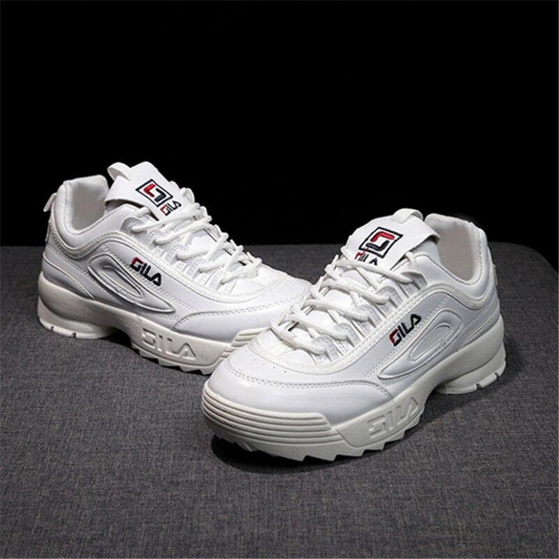 Cuña Planos De Encaje Atform Zapatillas Filas Zapatos Transpirables Marca Blanco PlkZXwOiuT