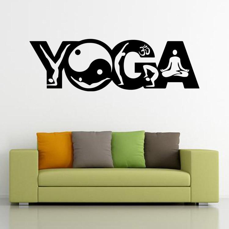 India Buddhist Yoga Art Deco Living Room Bedroom Furniture Wall Decals Stickers MuralChina