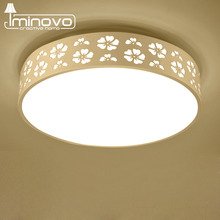 LED Ceiling Light Modern Panel Lamp Living Room Round Lighting Fixture Remote Control Hall Surface Mount Flush Bedroom Study