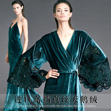 The new high-grade silk velvet fabric Qiao winter heavy velvet fashion dress fabric wholesale high quality wool cloth